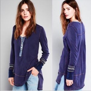 Free People Dallas Henley Embellished Thermal Cuff